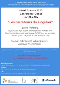 Conférence du mardi matin 2019-2020