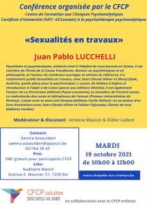 Juan PABLO LUCCHELLI «Sexualités en travaux»